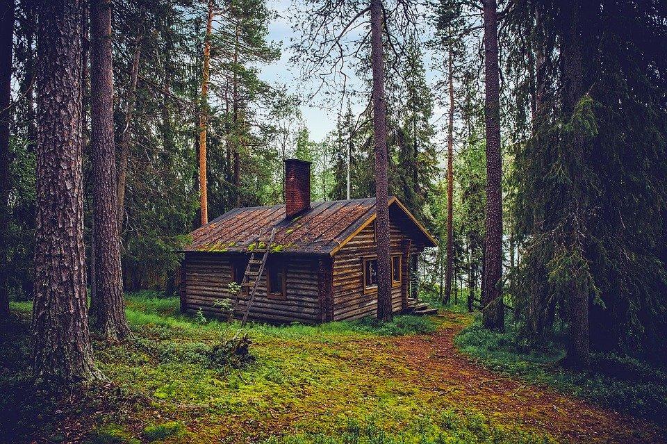 dřevěná chalupa