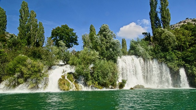 vodopád v Chorvatsku